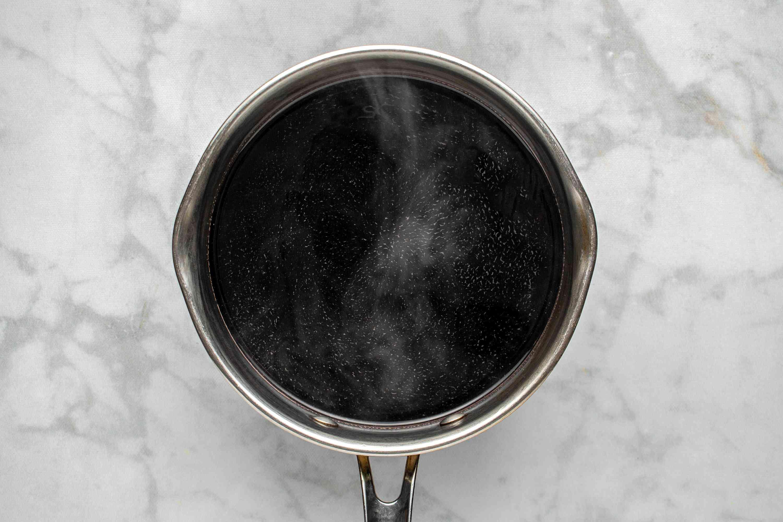 wine mixture in a saucepan
