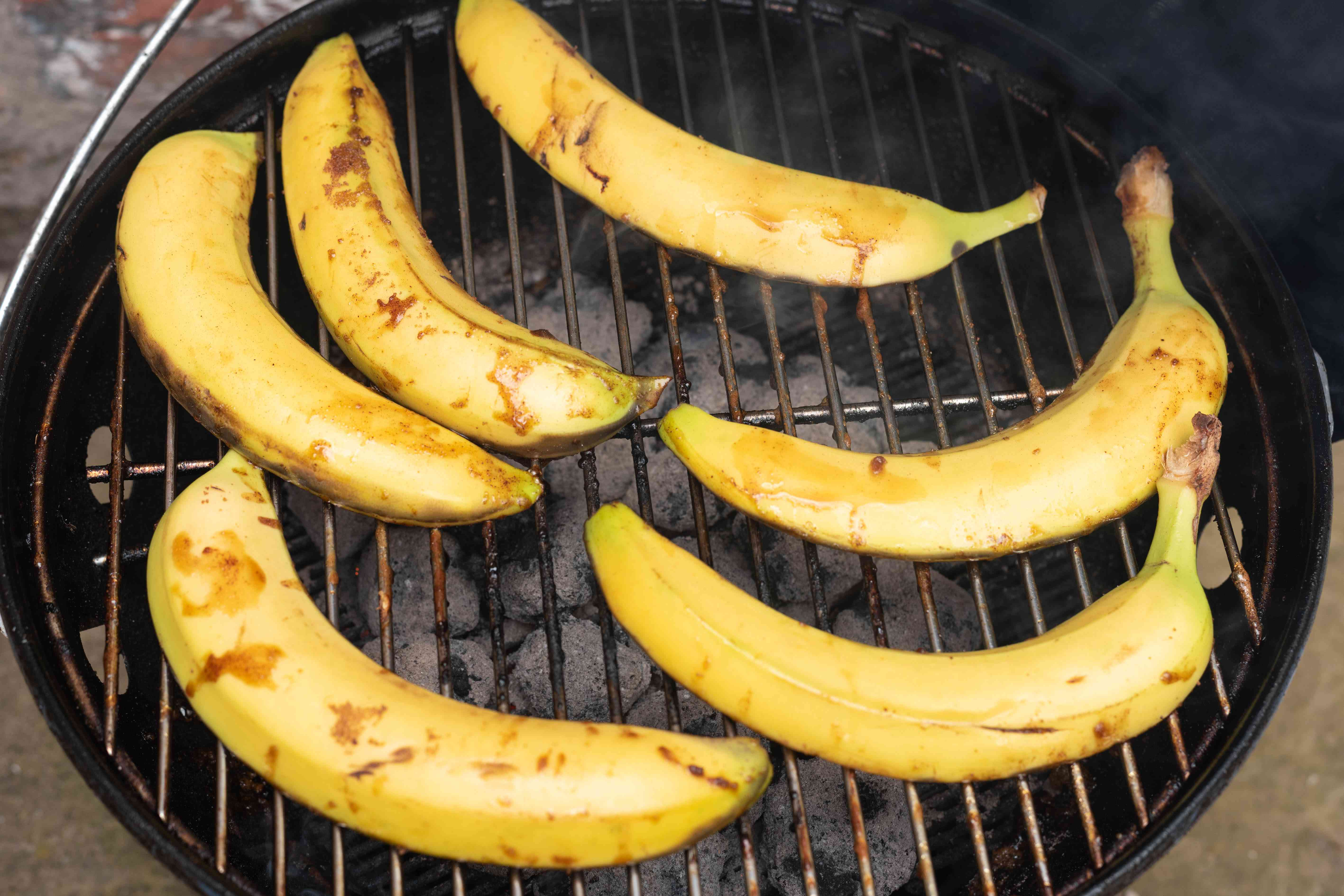 bananas on a grill