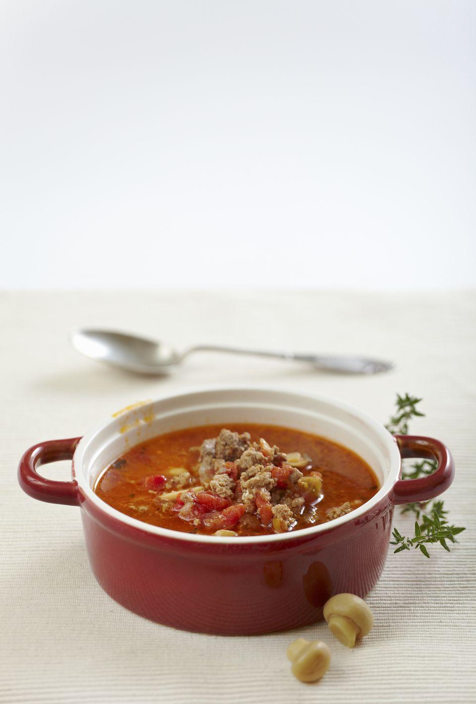 Sopa de pimientos rellenos sin gluten