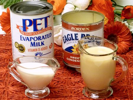 evaporated milk, sweetened condensed milk, cooking, tips, canned, can, recipes