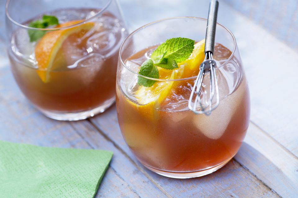 Fruit Tea With Orange and Mint