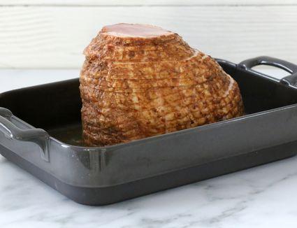 Ham ready to bake.