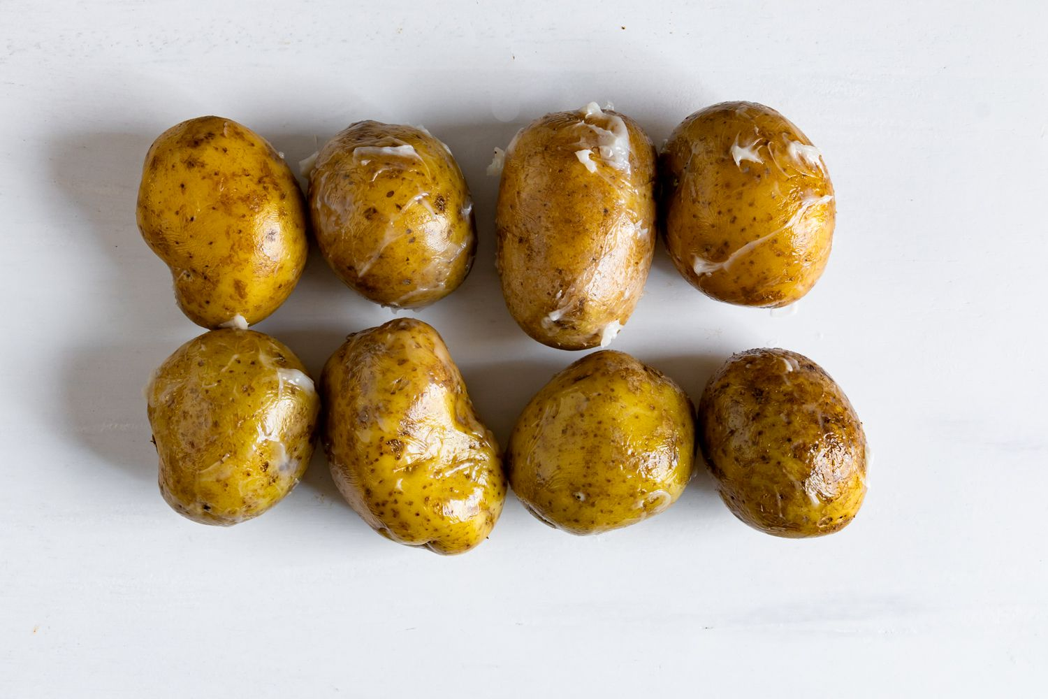 Potatoes covered with bacon grease
