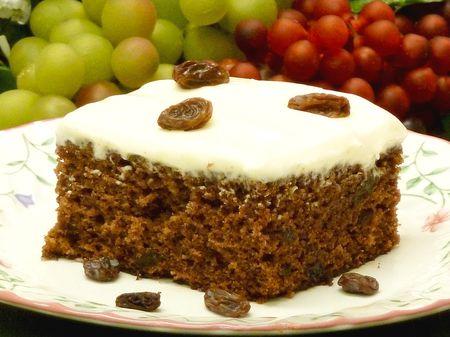 Applesauce Raisin Cake Recipe