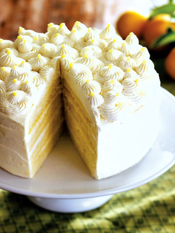 Lemon Mascarpone Layer Cake Recipe