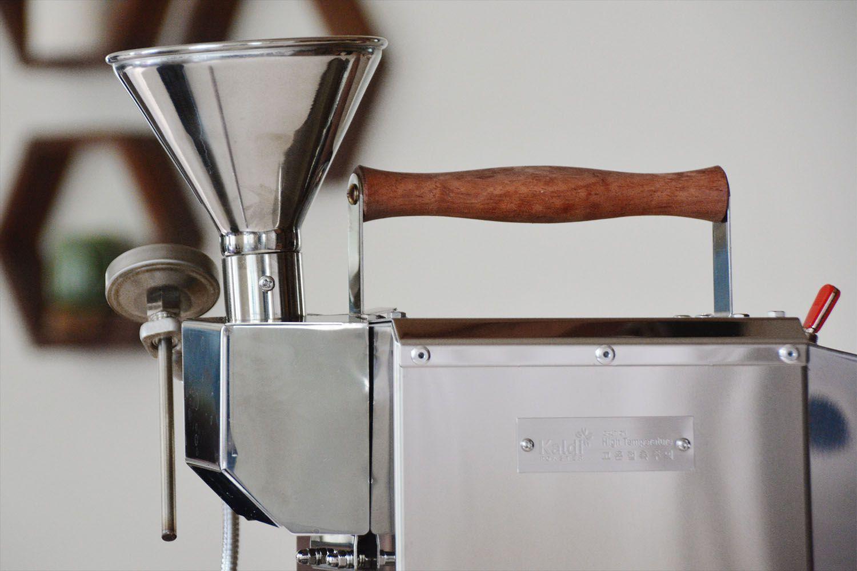 kaldi-motorized-home-coffee-roaster-funnel