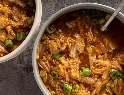Korean Cabbage Soup (Baechu Guk)