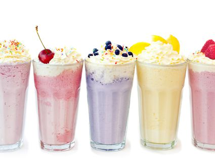 Various fruit milkshakes