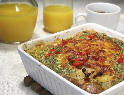 A potato and sausage breakfast casserole
