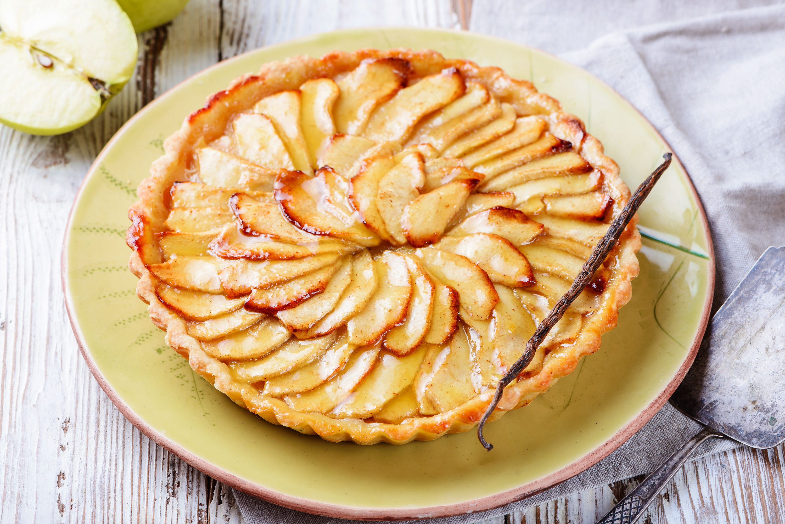 French Apple Tart Recipe With Pastry Cream Recipe