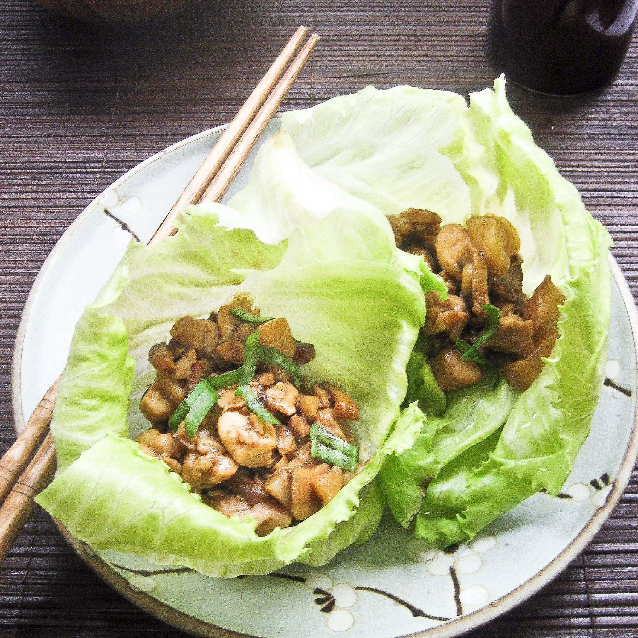 Chinese lettuce chicken wraps