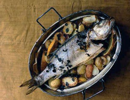 Sea Bass and Lemon Potatoes