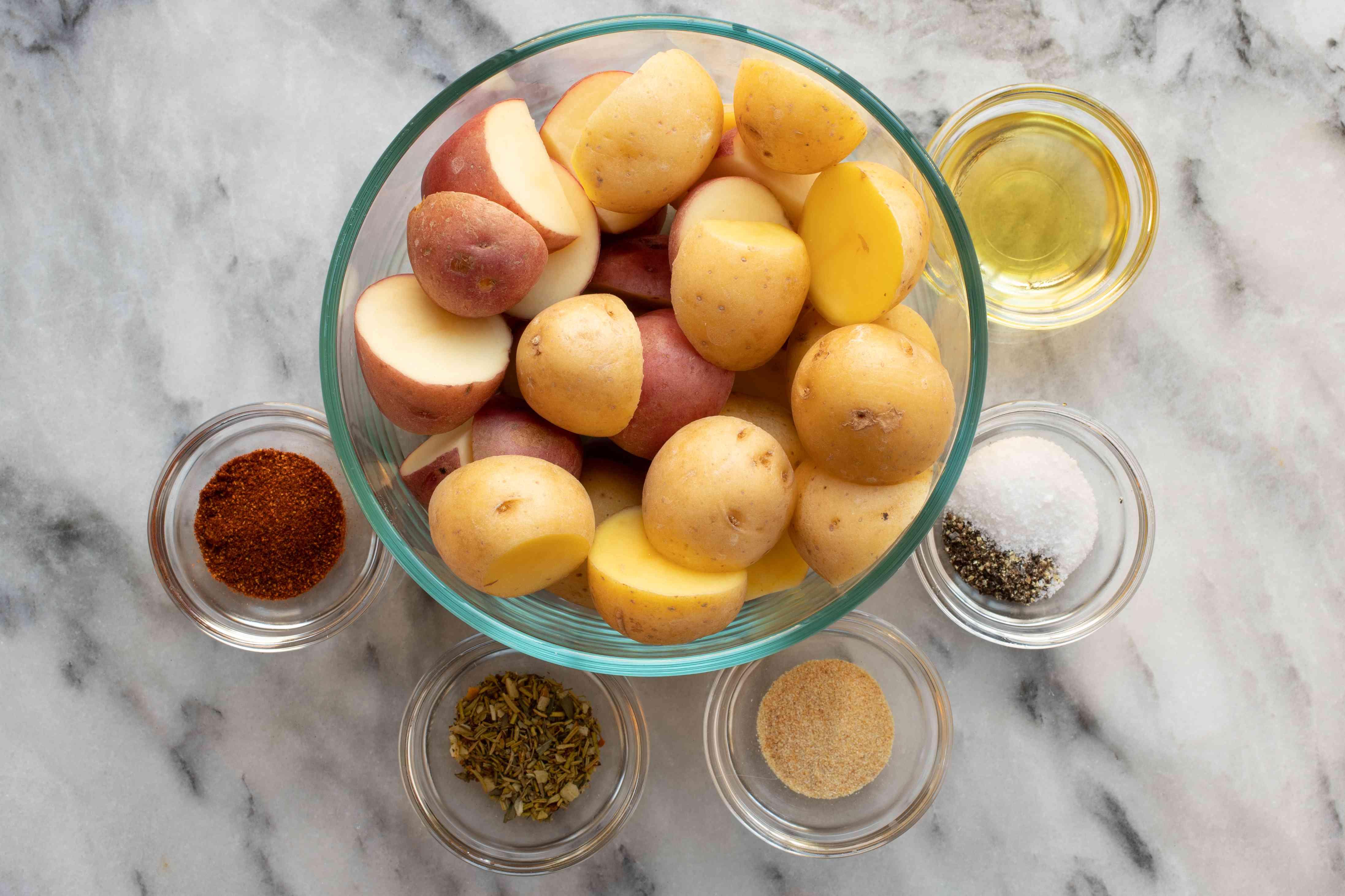 Ingredients for air fryer potatoes
