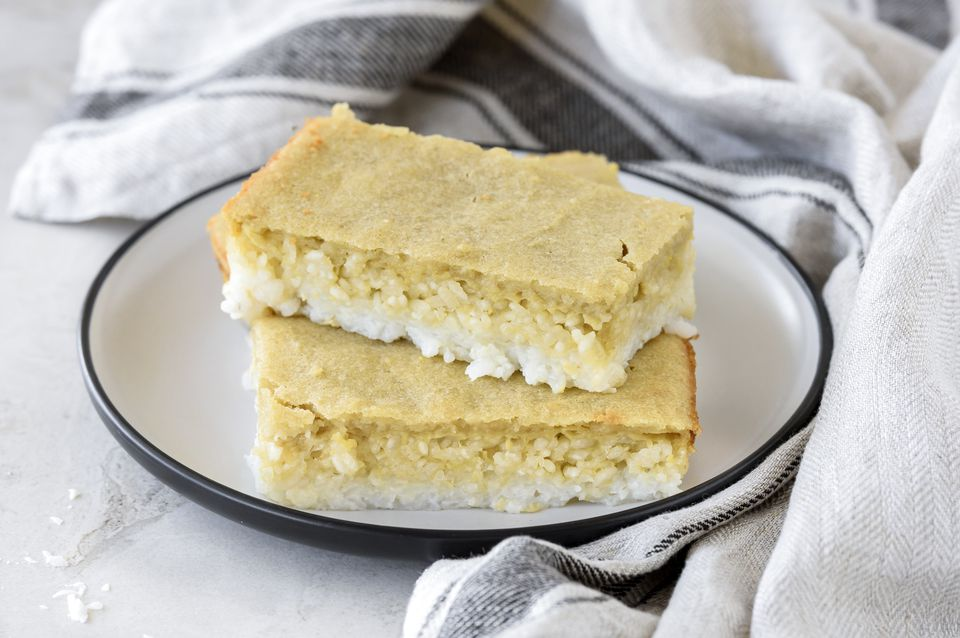 Pastel de arroz pegajoso dulce sin gluten