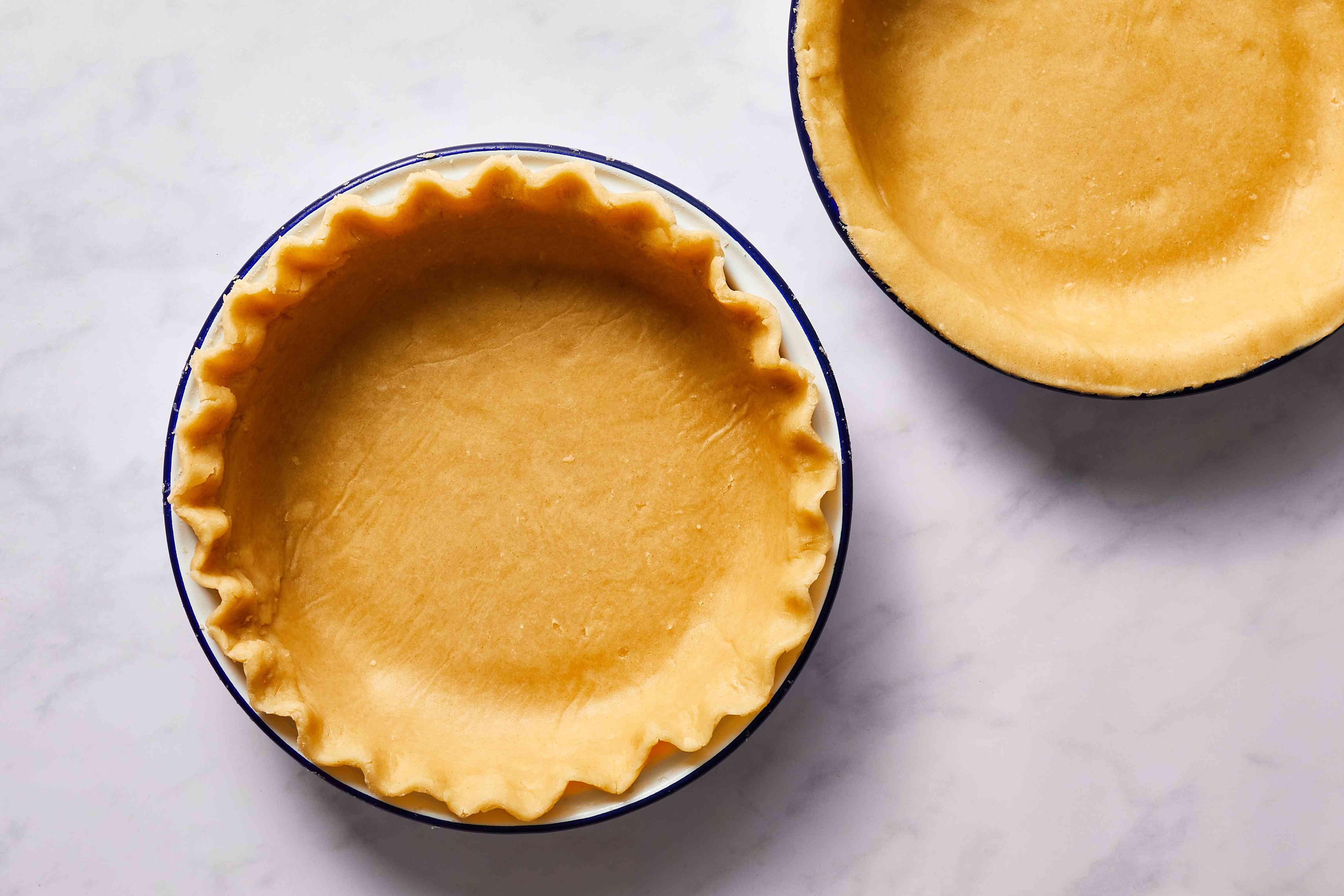 pie crust dough in a pie tin