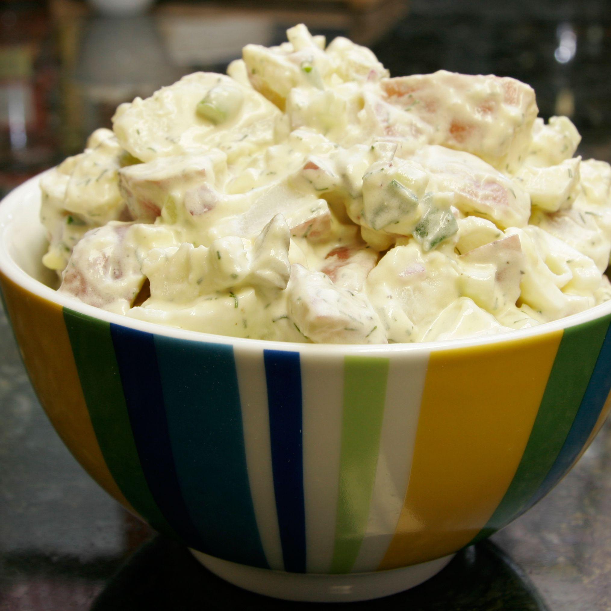 Sour Cream Potato And Egg Salad Recipe