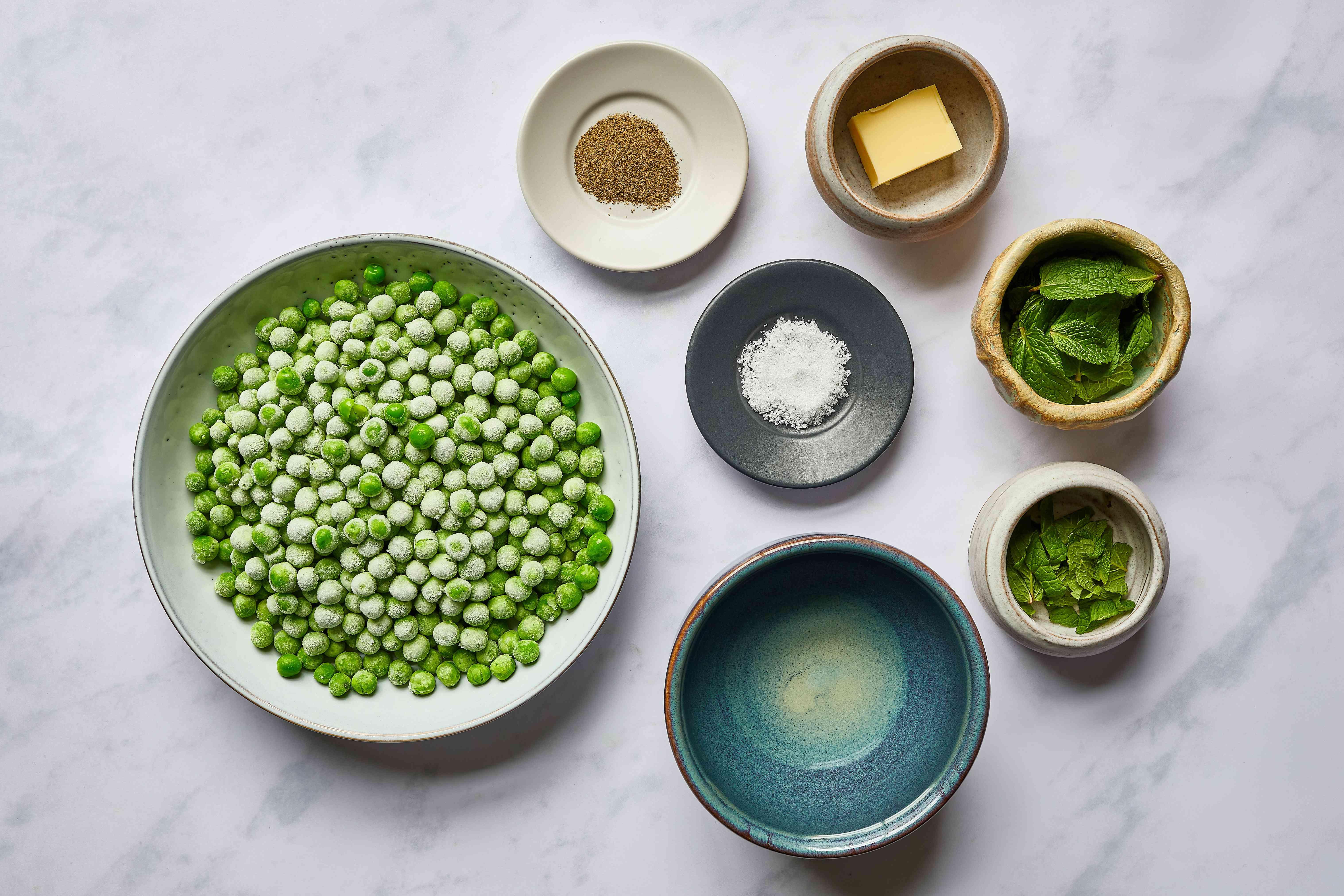 Minted Pea Purée ingredients