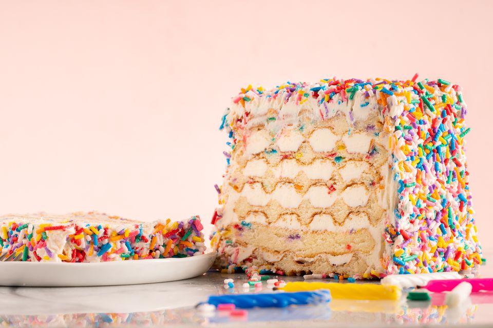 Funfetti Waffle Birthday Cake