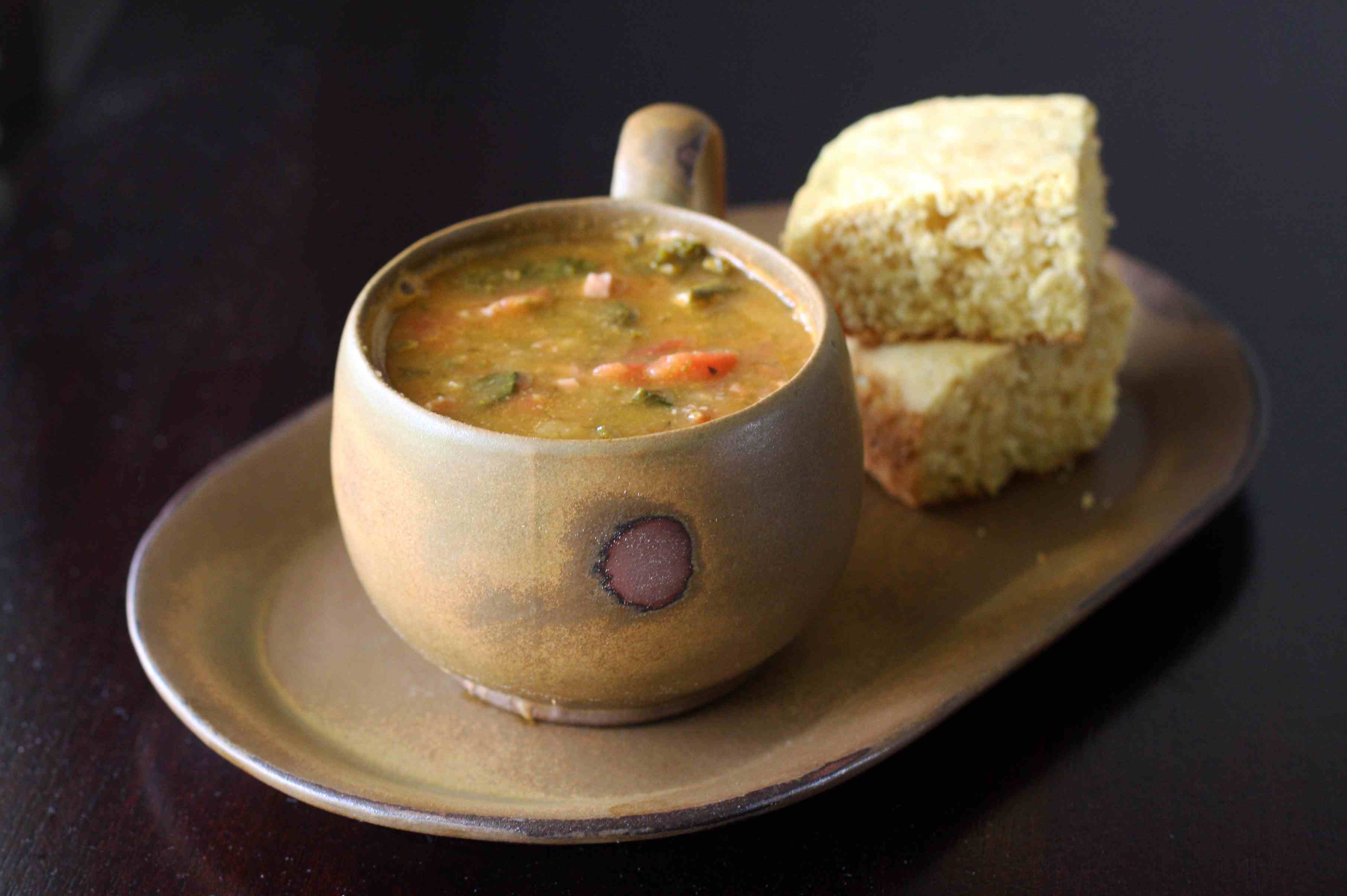 Navy Bean Soup With Ham and Spinach