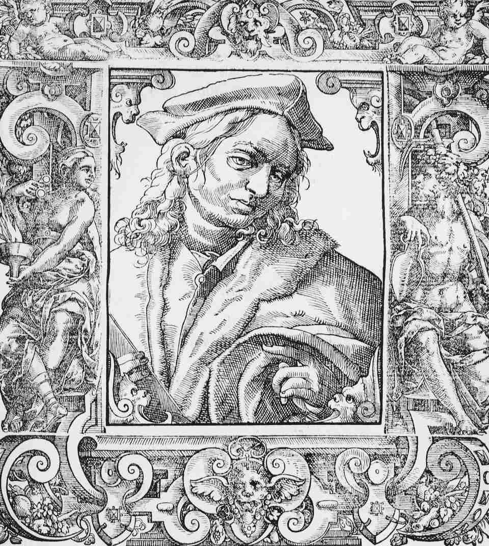 16th Century Engraving of Italian Physician Alessandro Achillini
