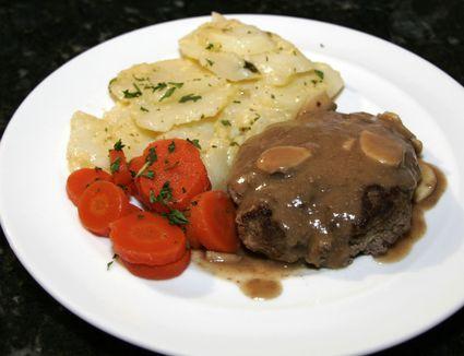 hamburger steaks and scalloped potatoes