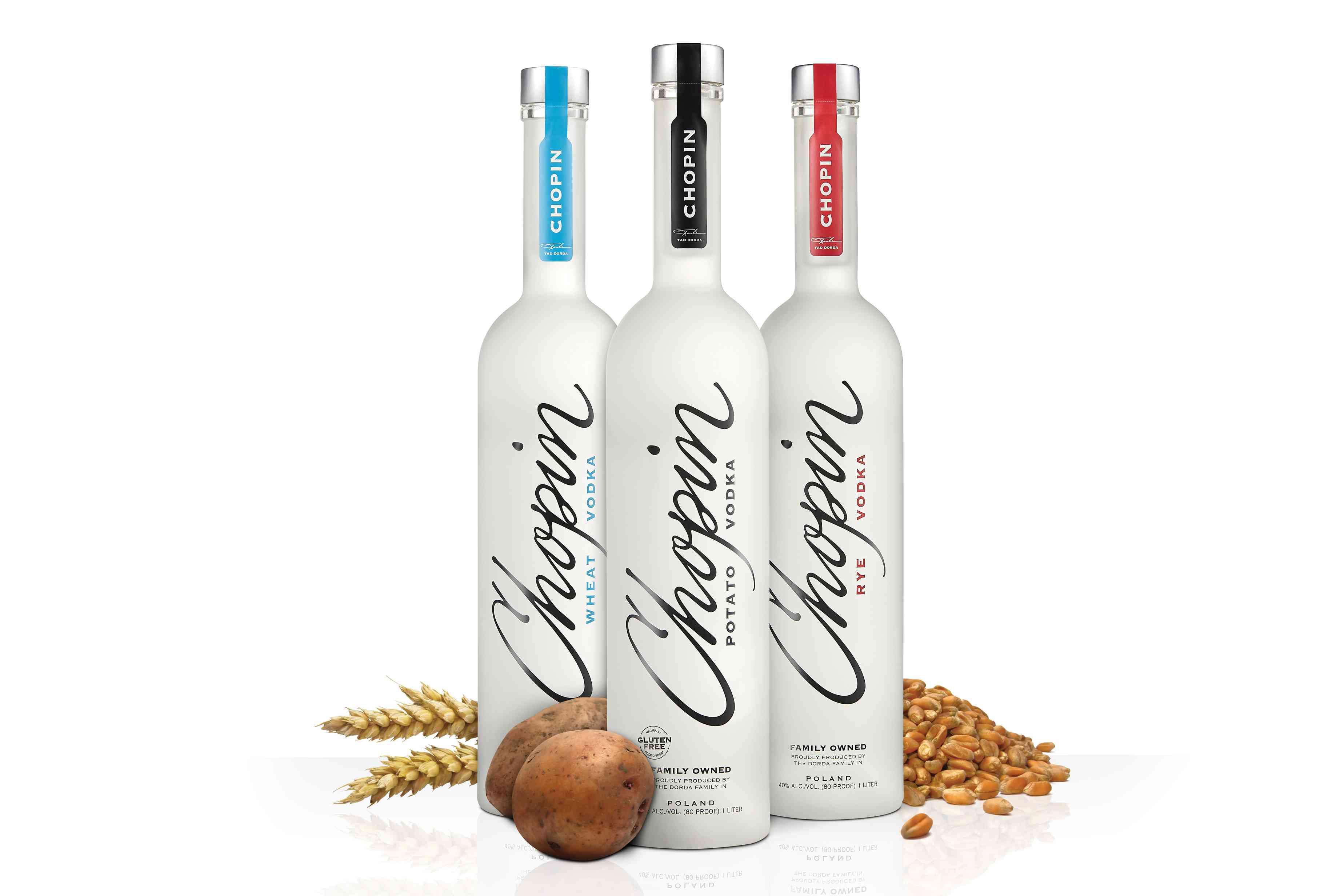 Chopin Potato, Rye, and Wheat Vodkas