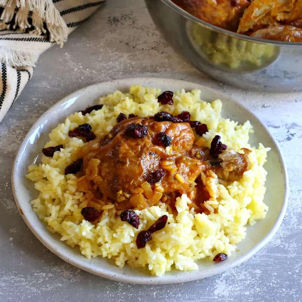 Polo Ba Morgh (Chicken With Saffron Rice) Recipe