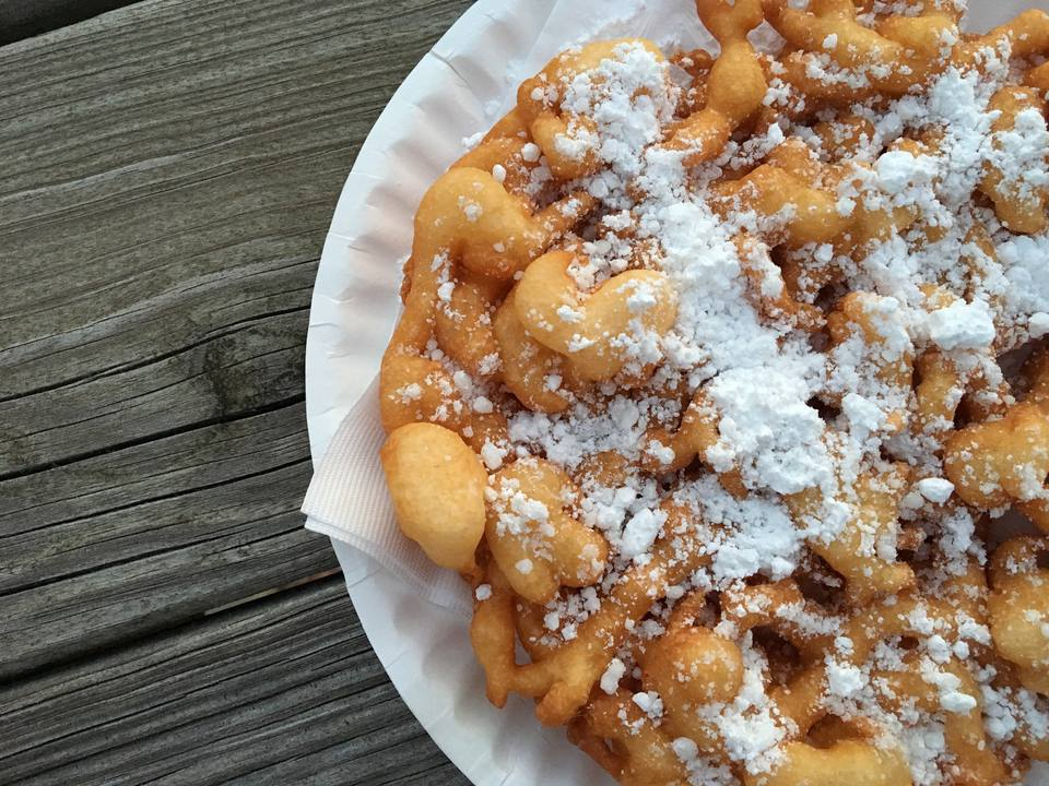 Close-up of a funnel cake