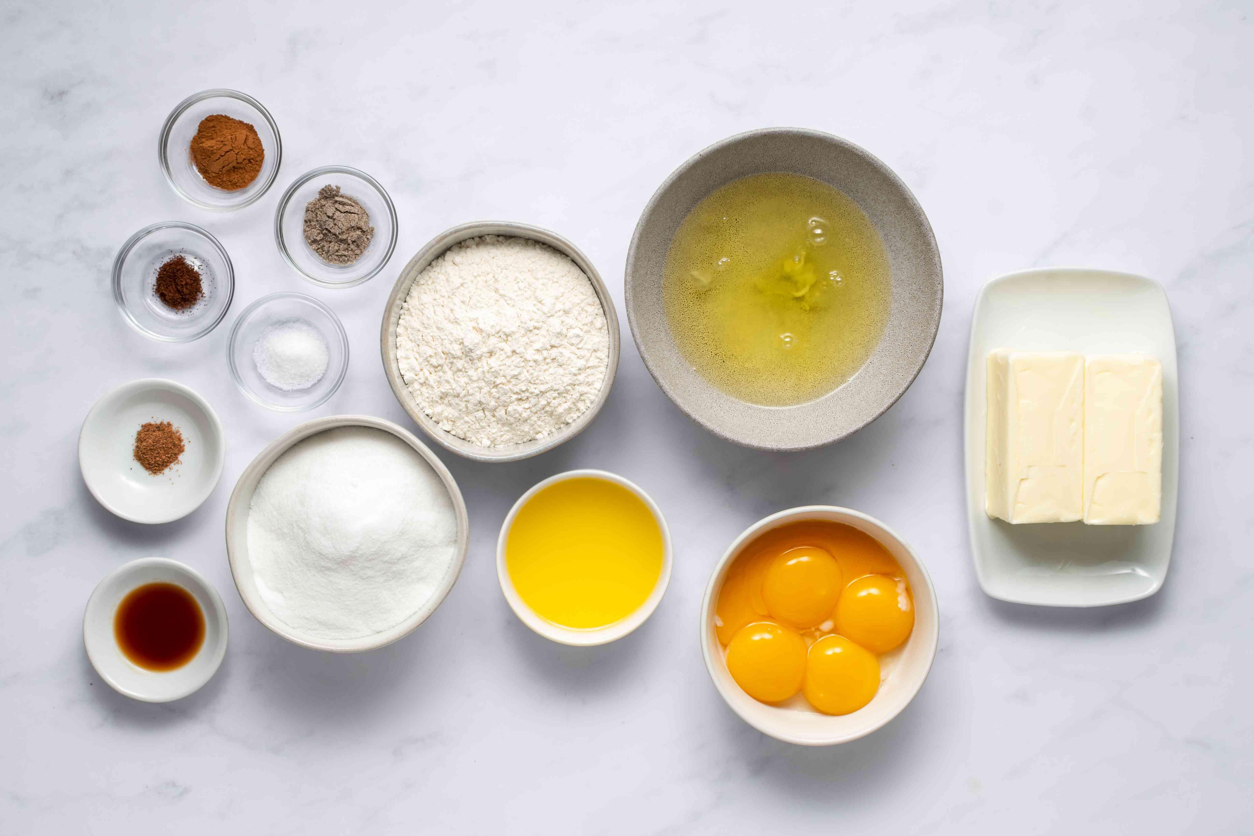 Indo-Dutch Spekkoek Recipe -- Lapis Legit -- Layered Spice Cake ingredients
