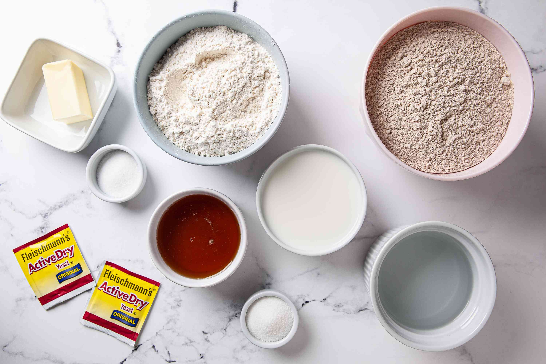 Honey Wheat Bread ingredients