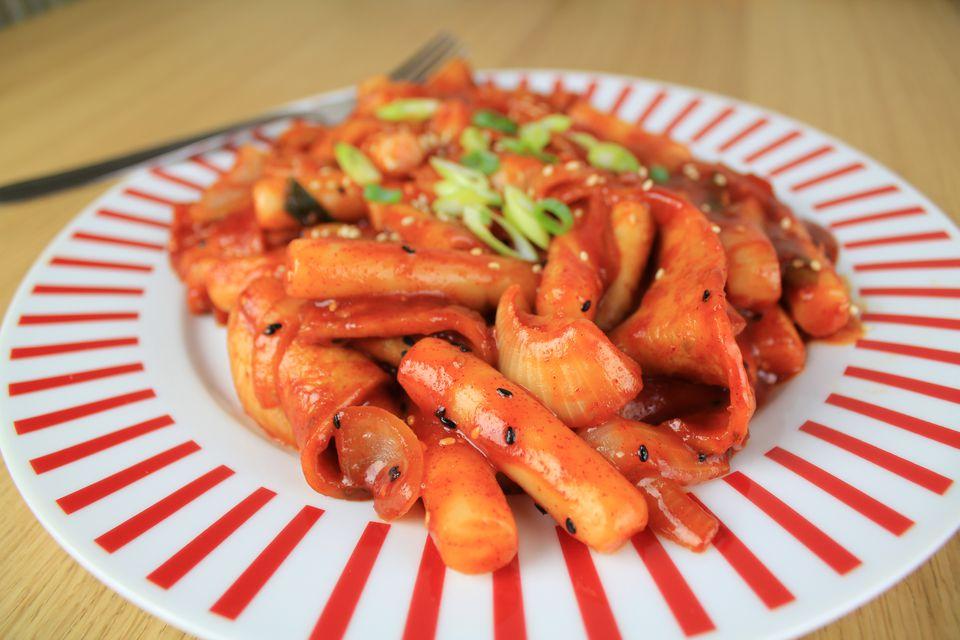 Korean spicy rice cakes