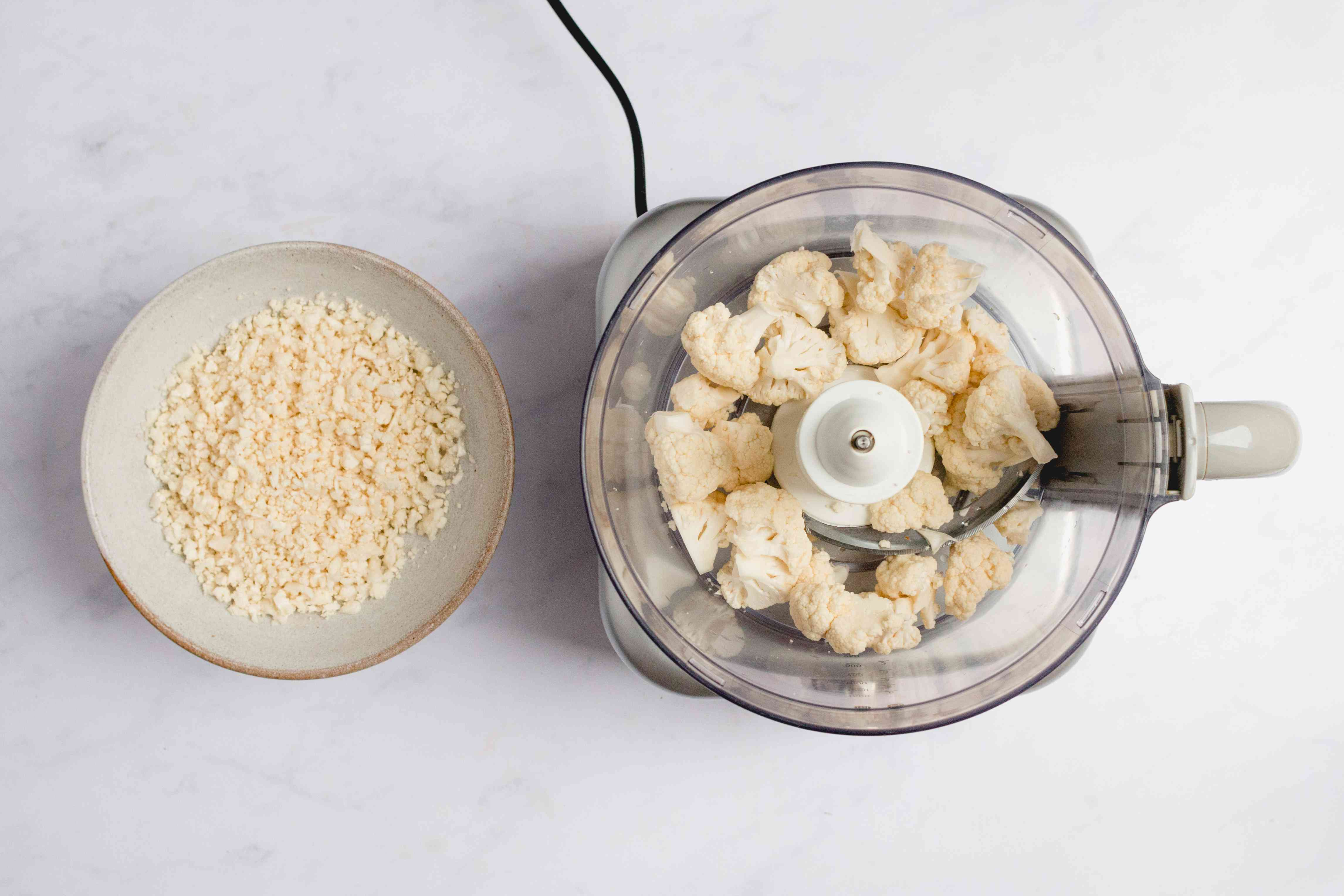 cauliflower in a food processor