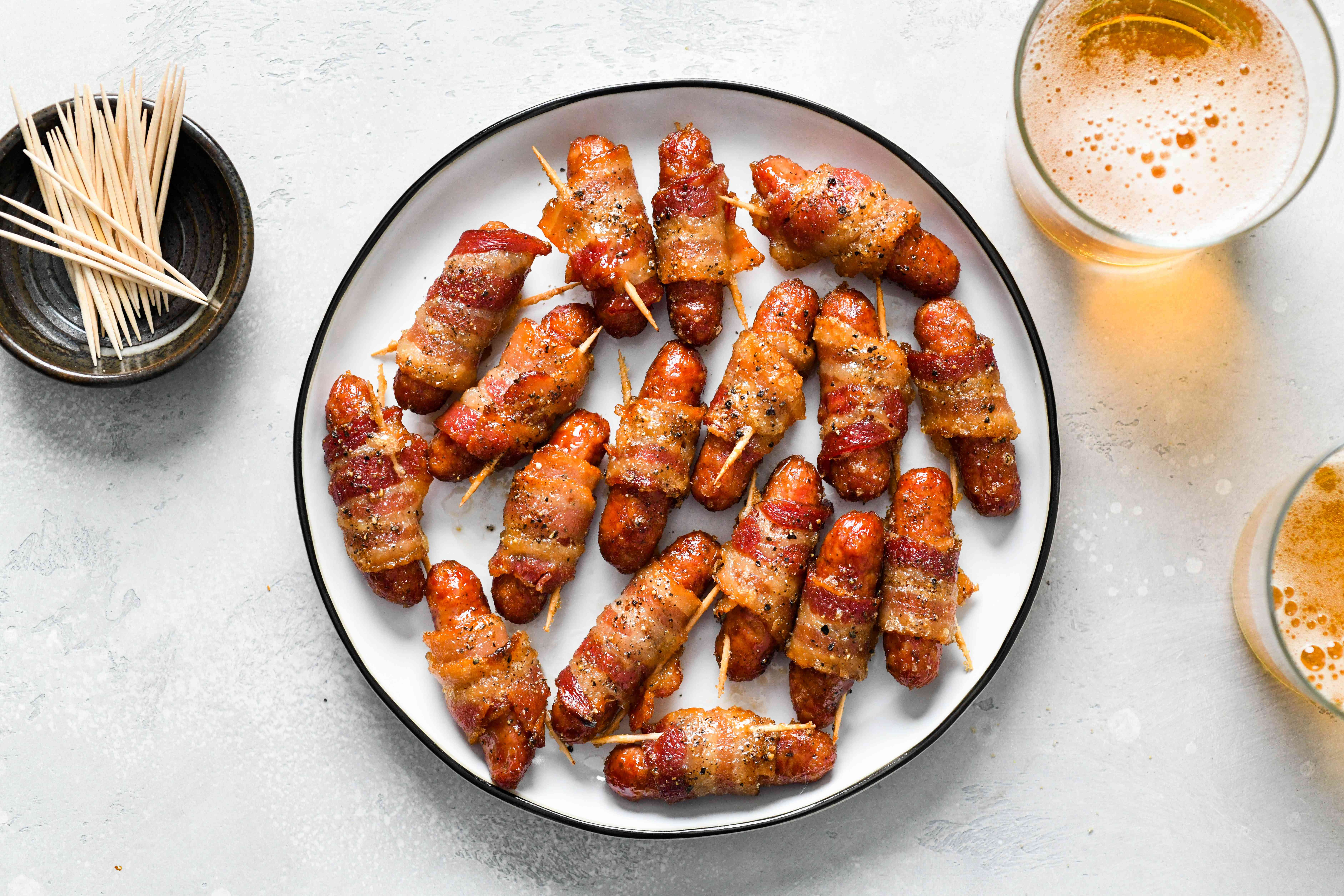Bacon Wrapped Sausages