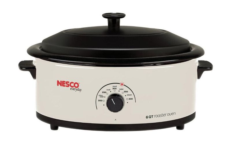 Nesco 6-Quart Ivory Roaster with Porcelain Cookwell 4816-14