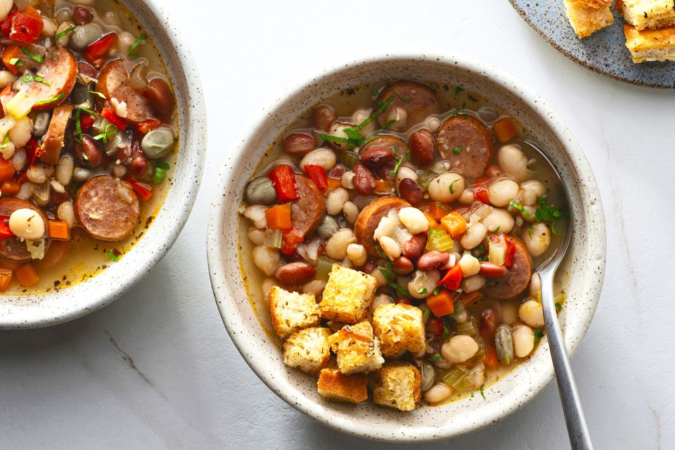 Quick and Easy Bean Soup With Sausage
