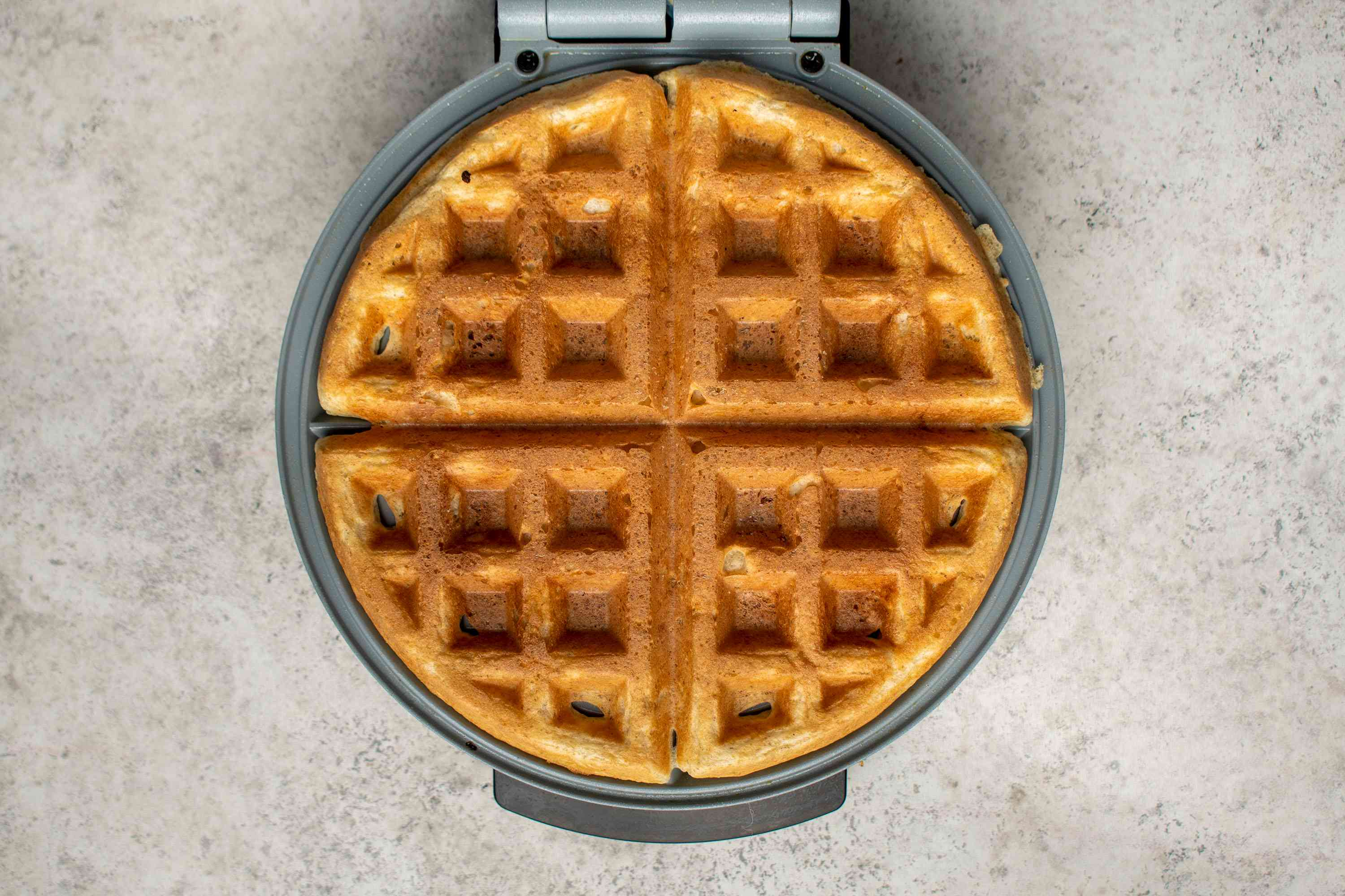 waffle in a waffle iron