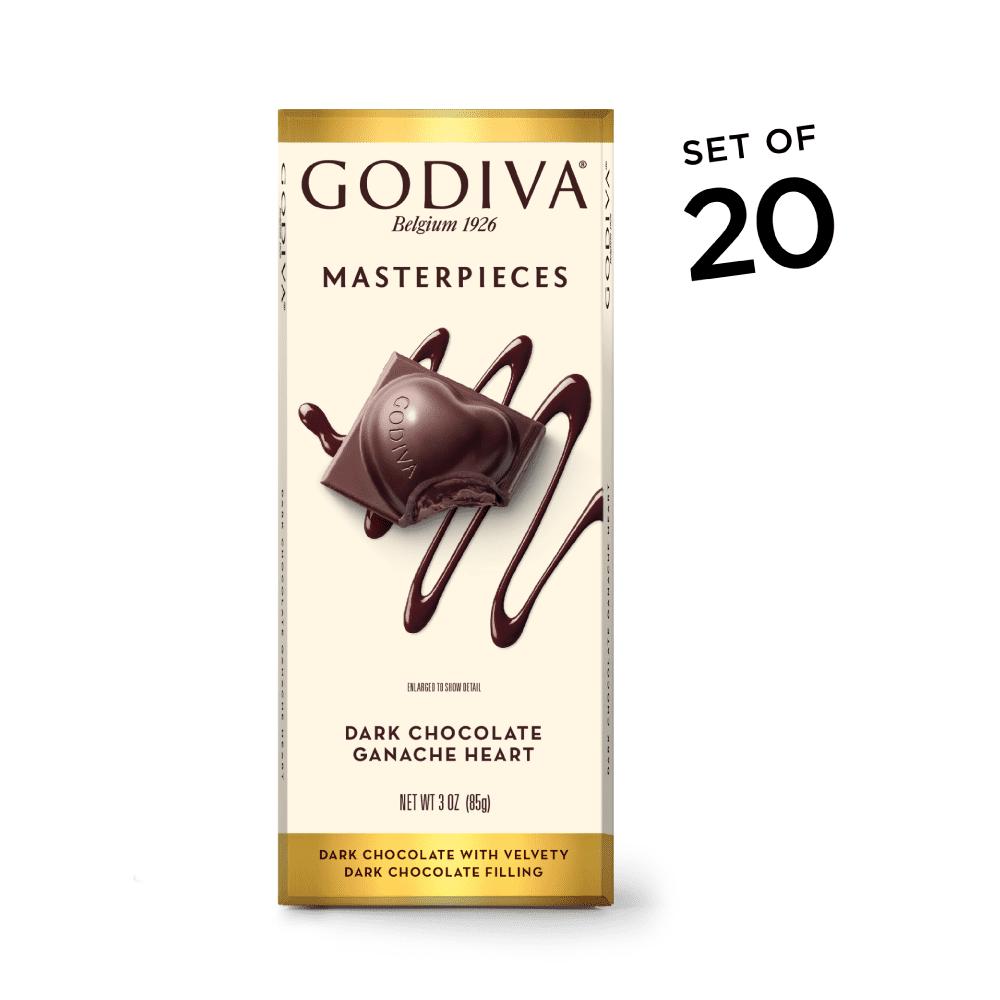 GODIVA Chocolatier Masterpiece Dark Chocolate Ganache Hearts Bar
