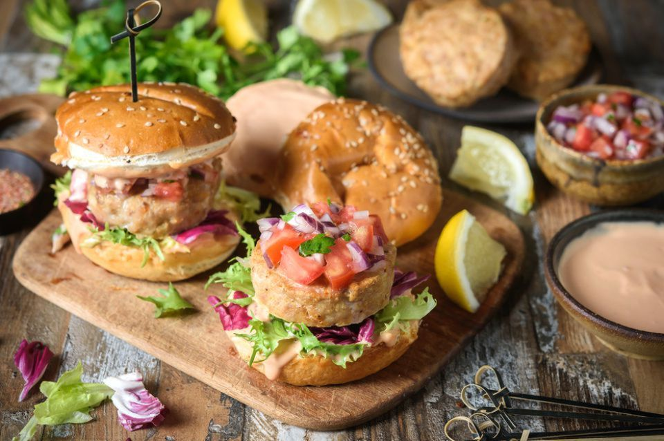 Juicy Baked Turkey Burgers