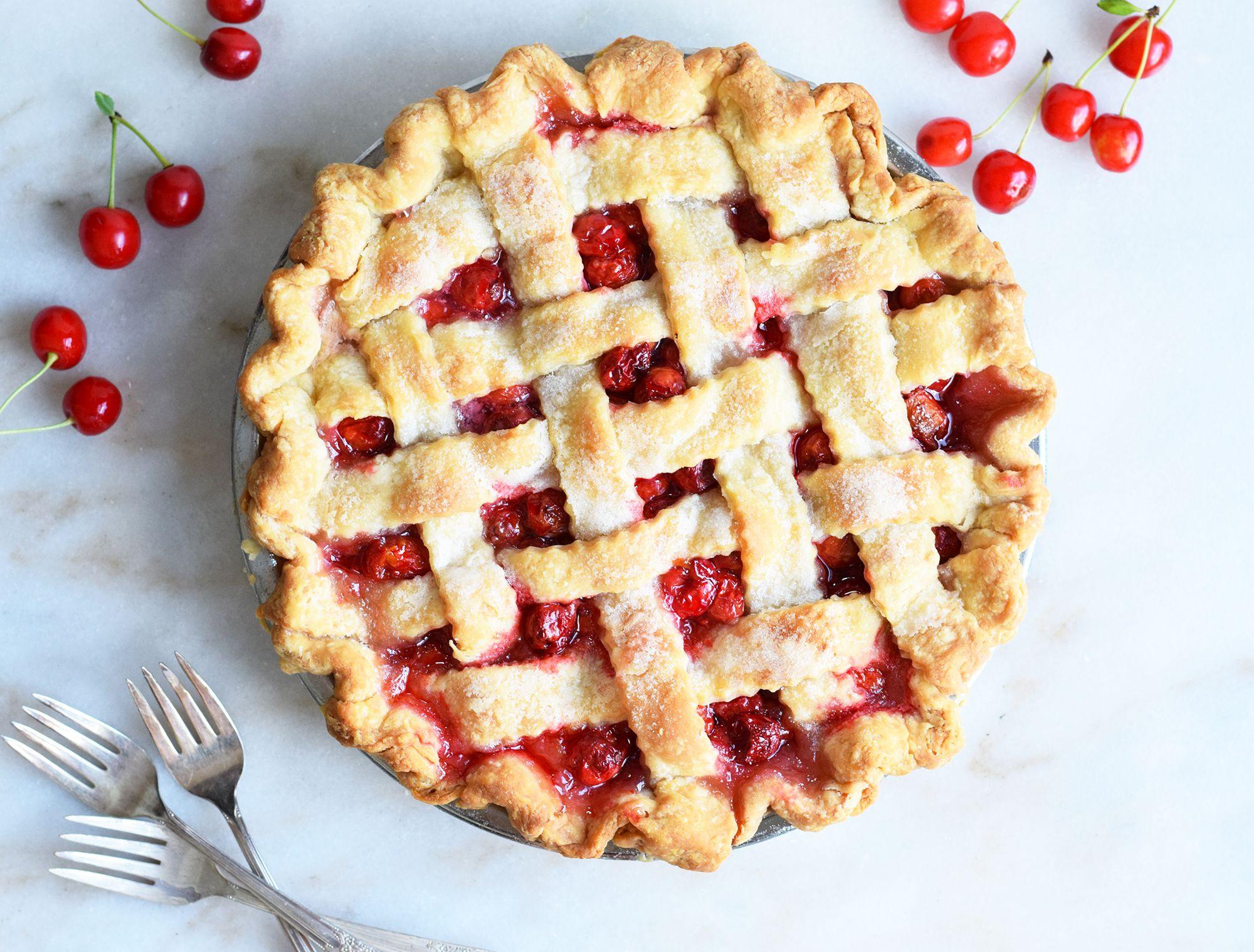 Use Summer Cherries to Make an Irresistible Lattice Crust Pie