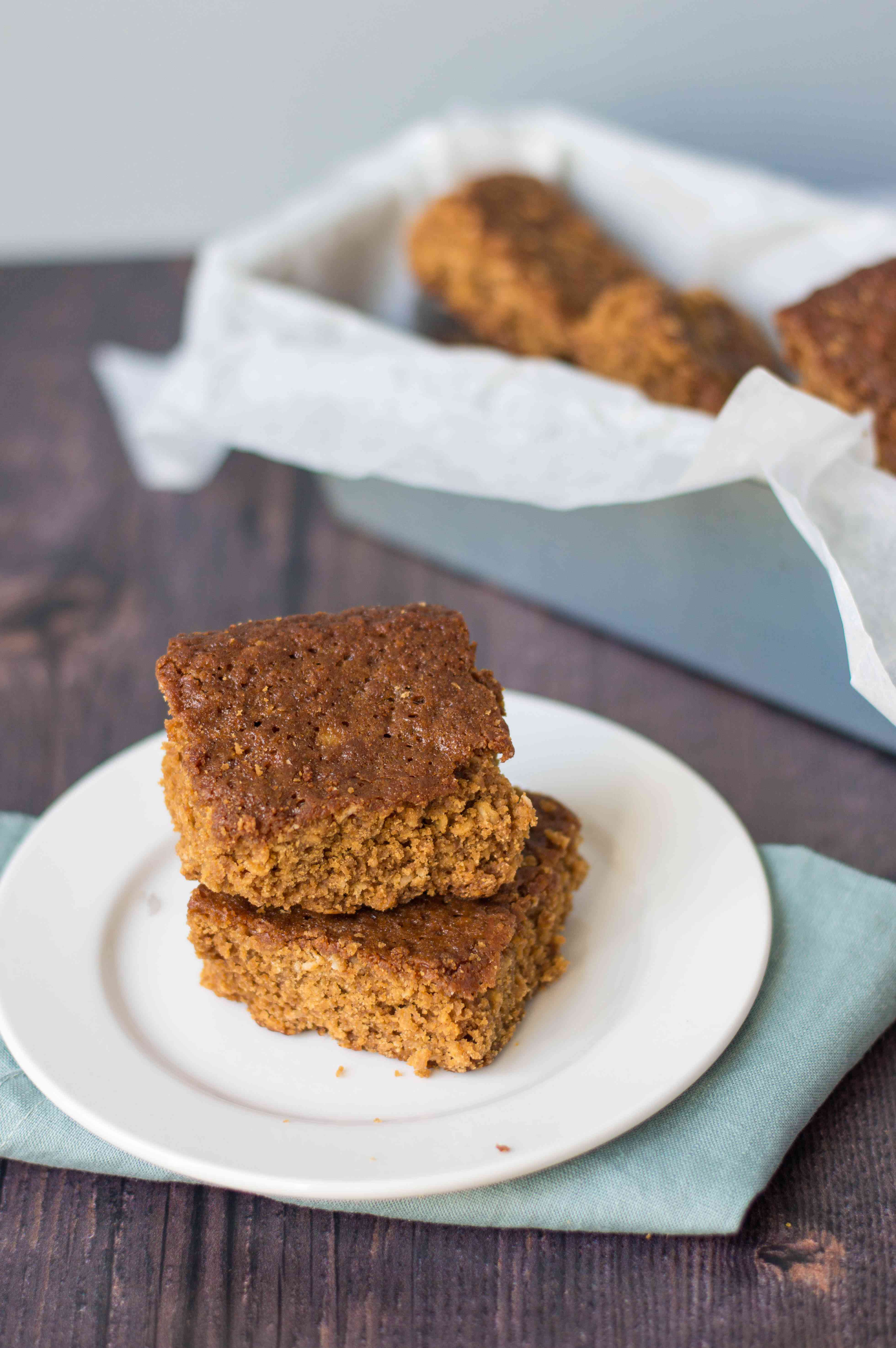 Traditional Yorkshire parkin cut into squares