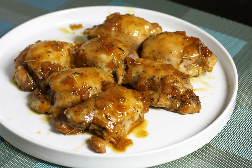 Orange chicken thighs