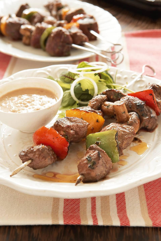 Ostrich Kebabs