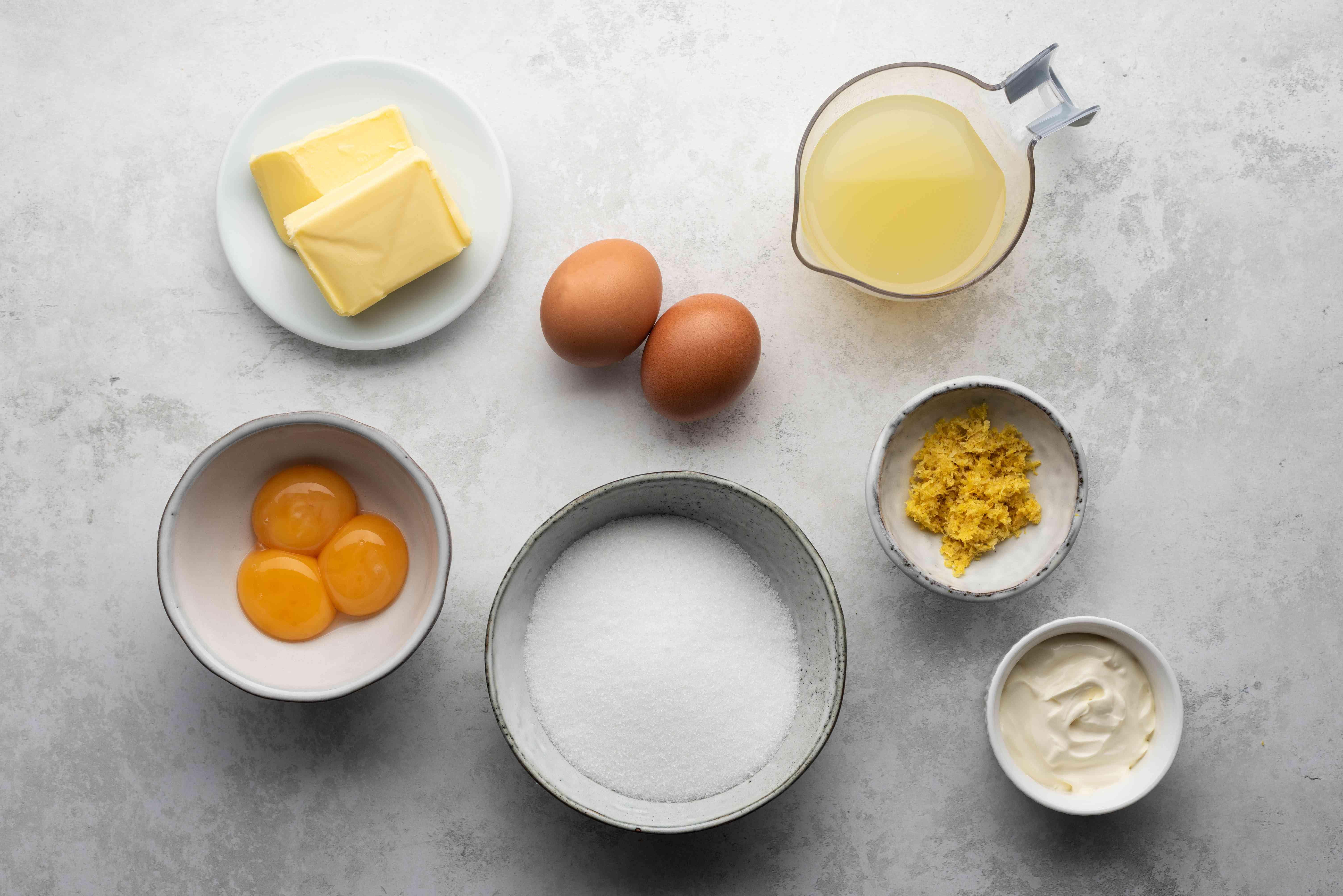 Lemon Tart recipe filling ingredients