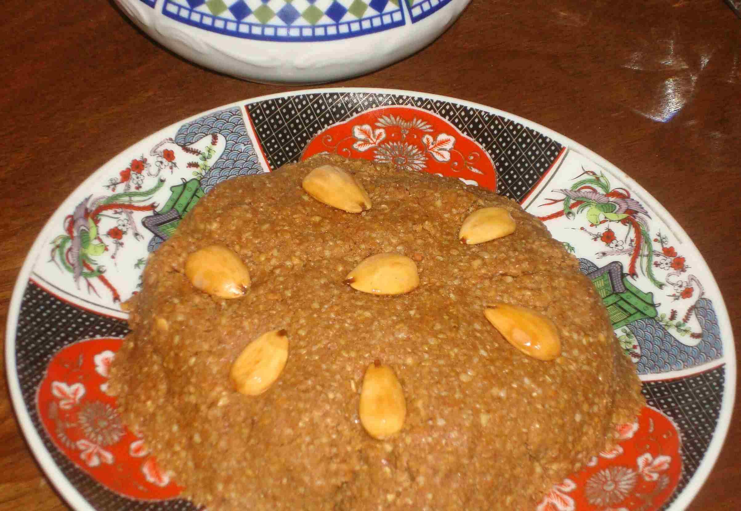 Moroccan Sellou or Sfouf