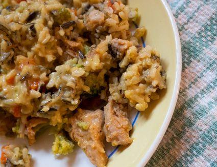 Freshly prepared meal on plate