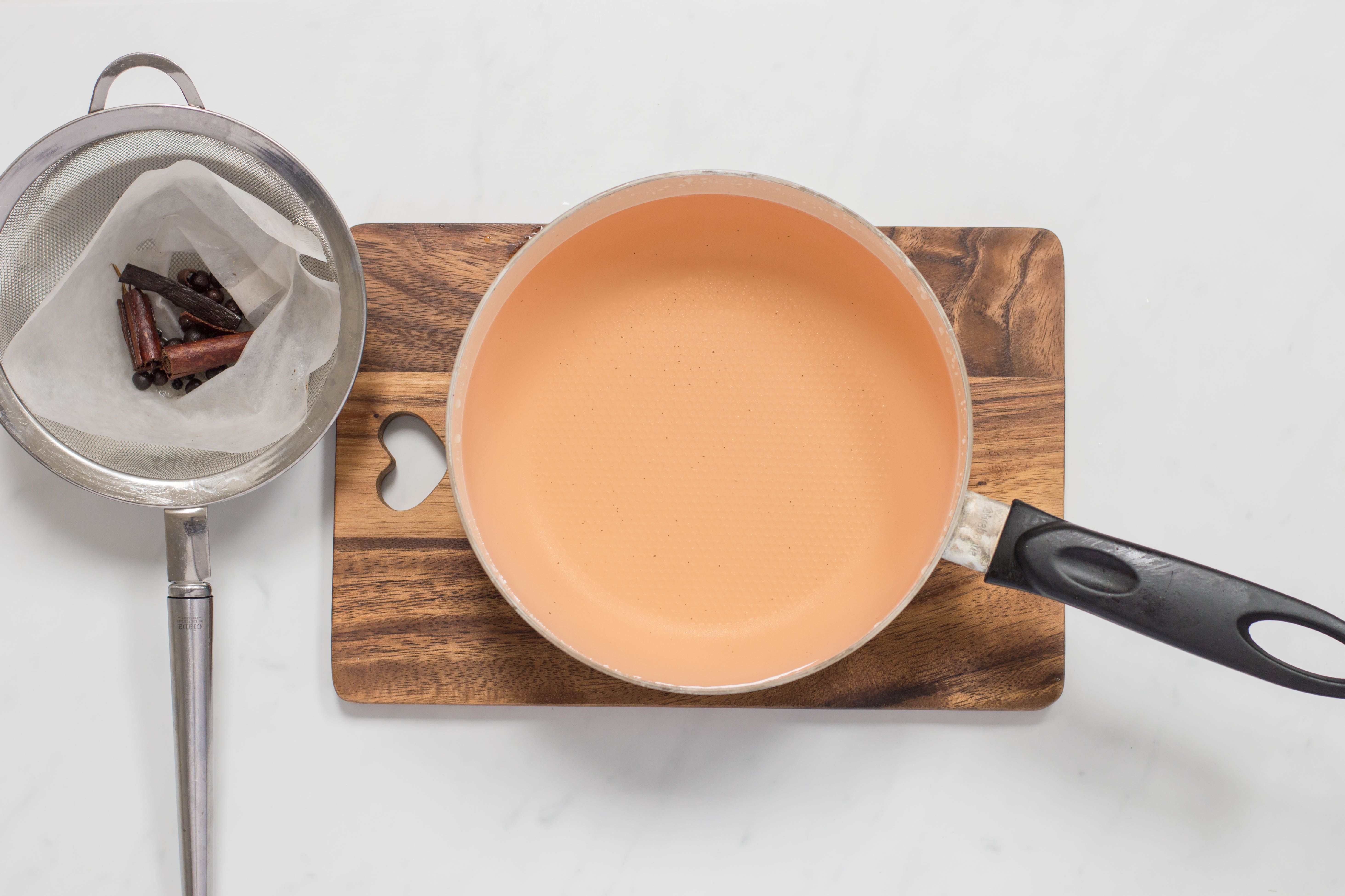 Strain the simple syrup