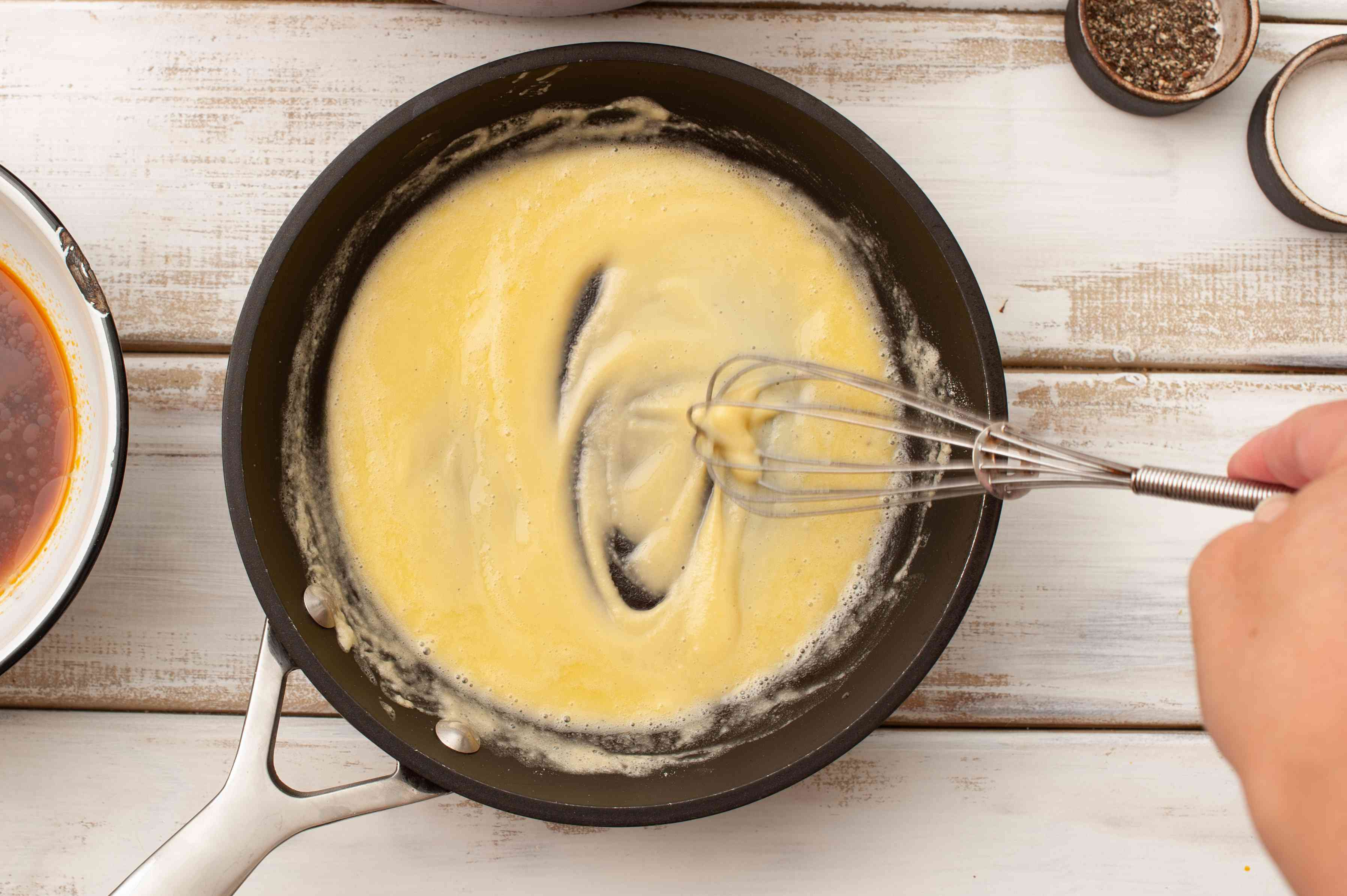 Stir butter