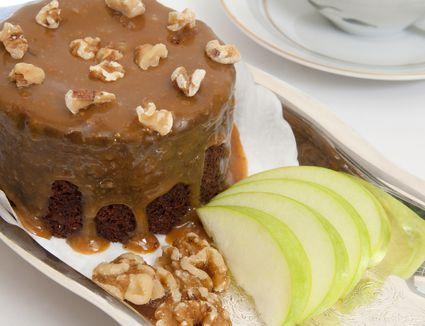 brown sugar caramel glaze on a cake