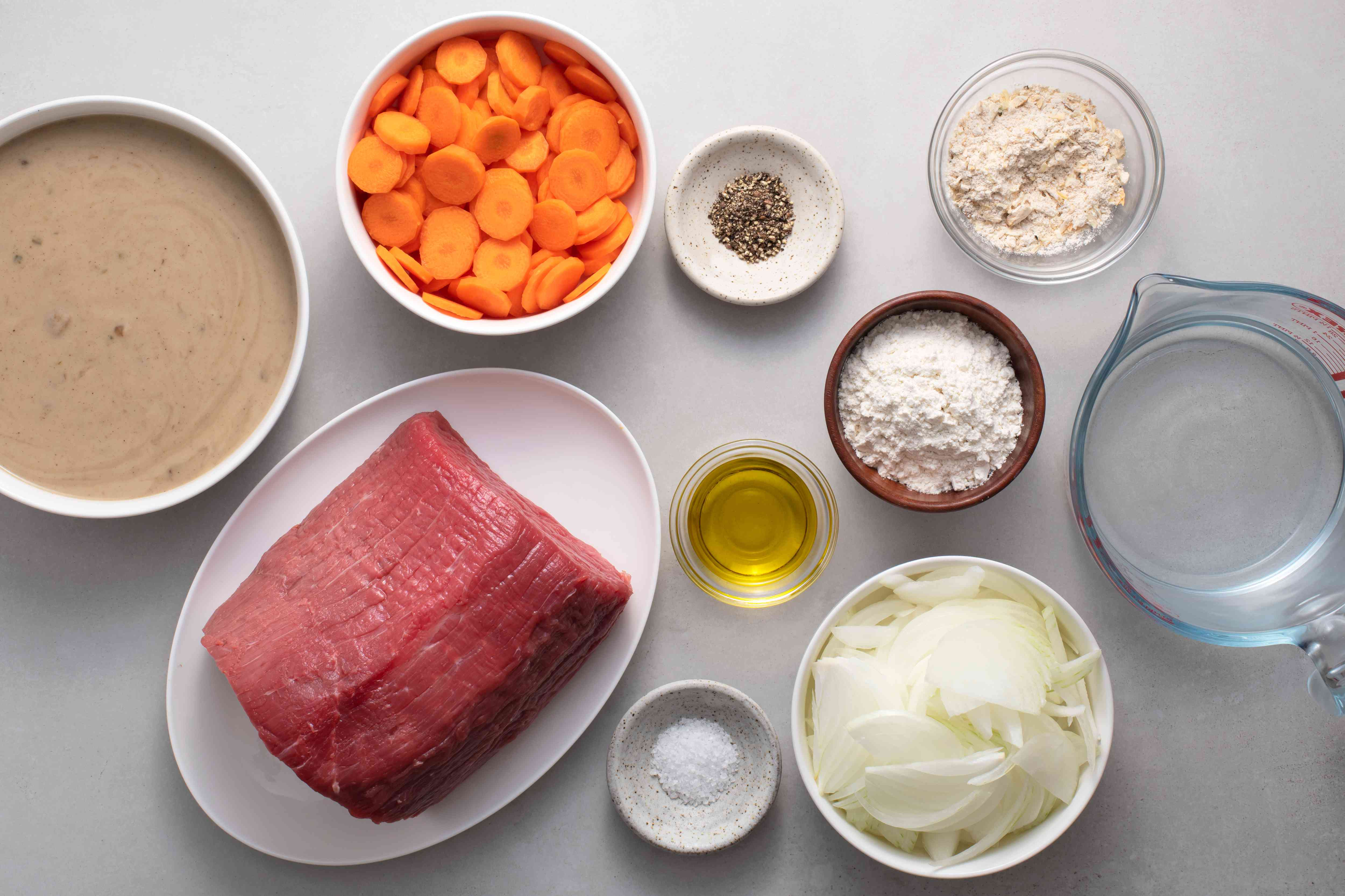 Gravy and Vegetables Slow Cooker Round Steak ingredients