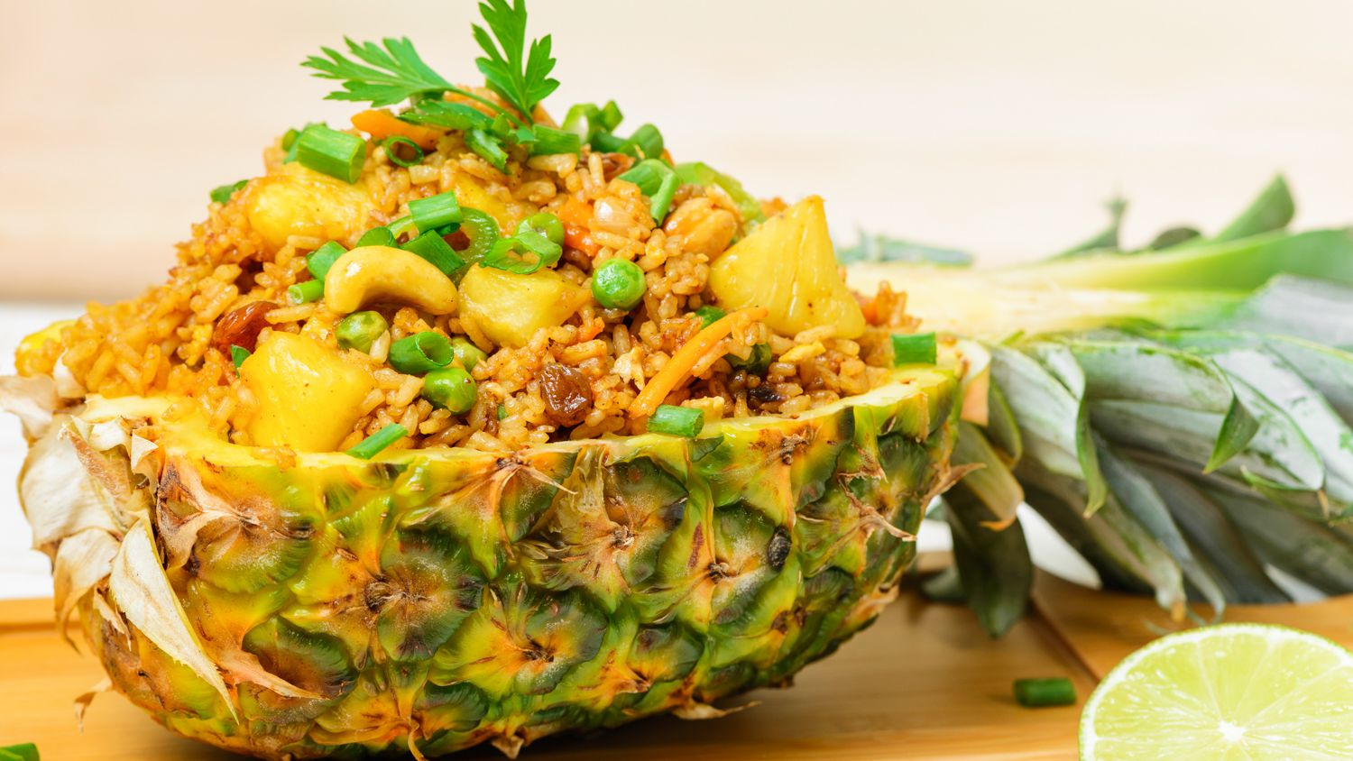 pineapple fried rice is a healthy meal